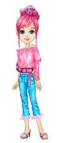 girl jeans and pink top animated jpg