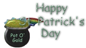 happy st patricks day with pot o gold under the rainbow animated jpg